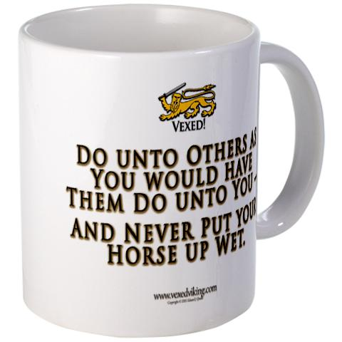 the texans golden rule mug